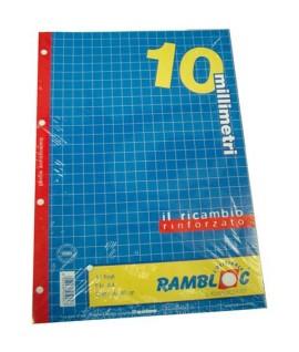 RICAMBIO RAMBLOC RINFORZATO A4 80GR 10MM