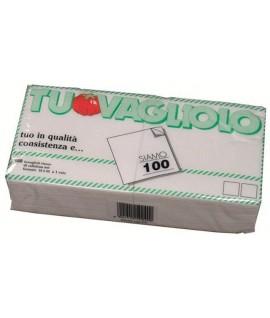 TOVAGLIOLO CM 33X33 1VELO BIANCO 100PZ