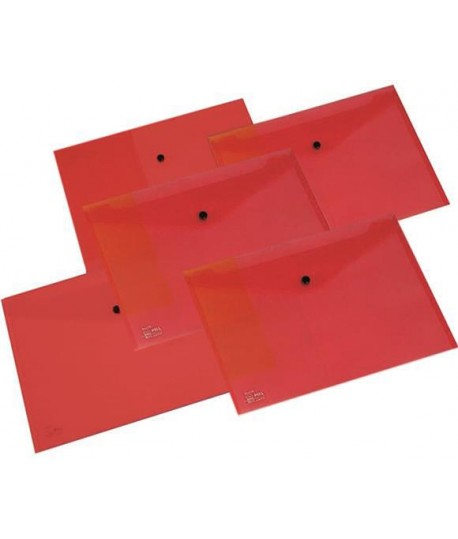 BUSTA BOTTONE PULL 1113 A4 ROSSO 5PZ
