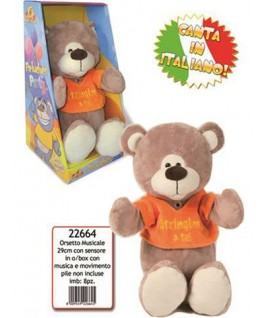 DE.CAR 22664 ORSO C/CANZONE MOVIMENTO
