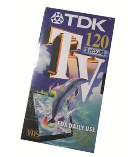 CASSETTA TDK E-120TV VIDEO VHS 120 MIN