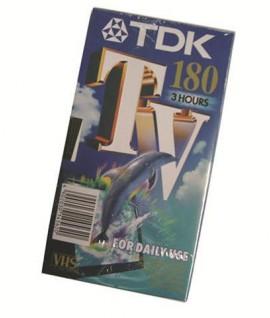 CASSETTA TDK E-180TV VIDEO VHS 180 MIN