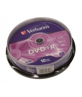 DVD+R VERBATIM 43498 SPINDLE 10PZ