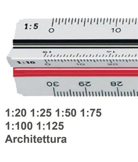 SCALIMETRO M+R 16310010 A 6 SCALE 30CM