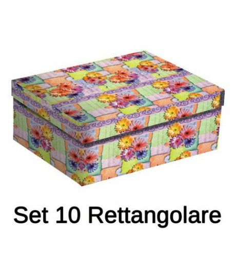 SET SCATOLE FLOWERS RETT.10PZ 121075