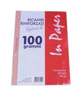 RICAMBIO A4 RINFORZATO 100 GR INLINEA Q