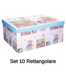 SET SCATOLE CAMERETTA RETT.10PZ 122032
