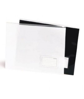 BUSTA CON ZIP A4 BLACK&WHITE NERO