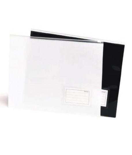 BUSTA CON ZIP A4 BLACK&WHITE BIANCO