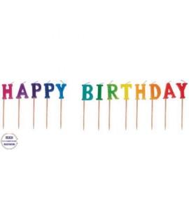 CANDELE TORTA GIVI 511-19 HAPPY BIRTHDAY