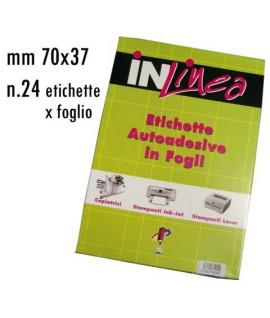 ETICHETTE INLINEA BIANCO MM70X37 100FF