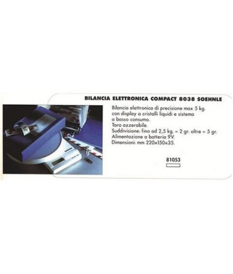 BILANCIA DIG. SOEHNLE 66171 ATTRACT. 5KG