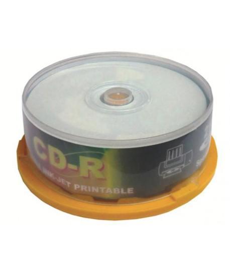 CD-R IN LINEA 700 MB 80 MIN 25PZ STAMP.
