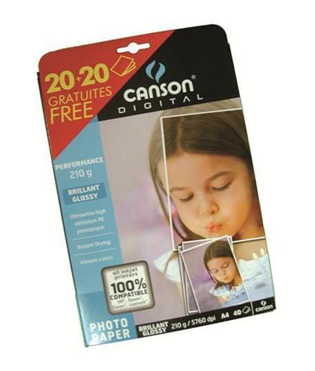 CARTA FOTO CANSON 210G A4 20FF+10OMAGGIO