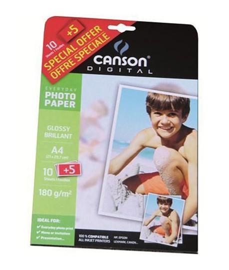CARTA FOTO CANSON 180G A4 10FF+5 OMAGGIO