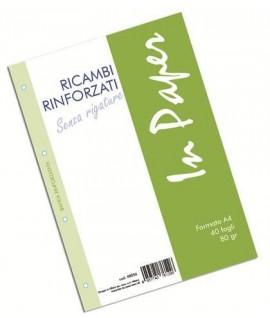 RICAMBIO RINFORZATO IN A4 80G 40FF BIANC