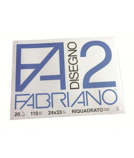 ALBUM FABRIANO 2 110G 24X33 SQUADR. 20FF