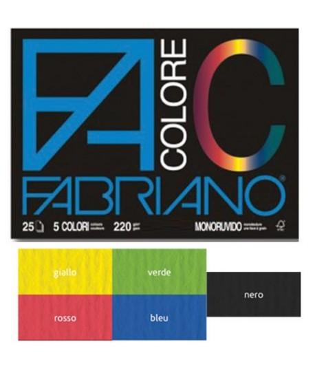 ALBUM FABRIANO COLORE 24X33 MONORUV. 5PZ