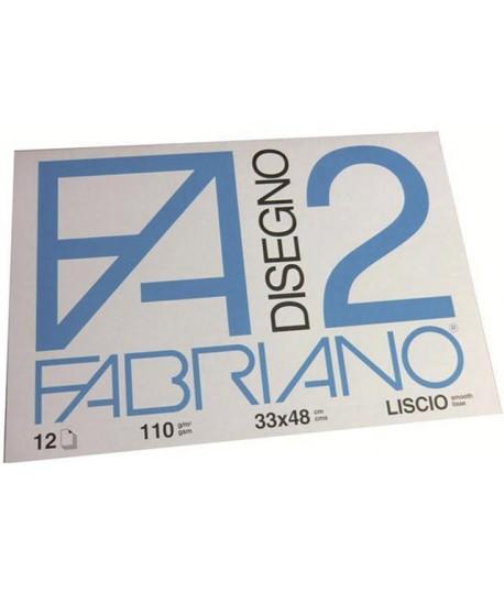 ALBUM FABRIANO 2 110G 33X48 LISCIO 12FF