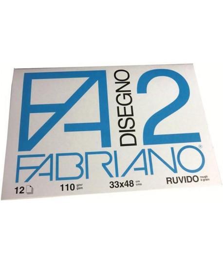 ALBUM FABRIANO 2 110G 33X48 RUVIDO 12F