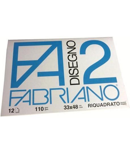 ALBUM FABRIANO 2 110G 33X48 SQUADR. 12FF