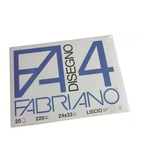ALBUM FABRIANO 4 220G 24X33 LISCIO 20FF