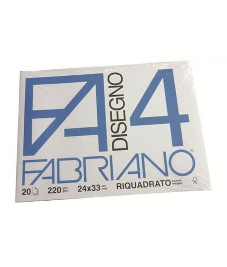 ALBUM FABRIANO 4 220G 24X33 SQUADR 20FF