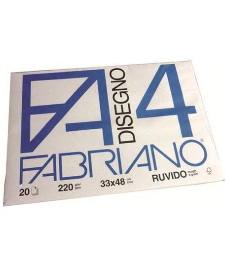 ALBUM FABRIANO 4 200G 33X48 RUVIDO 20FF