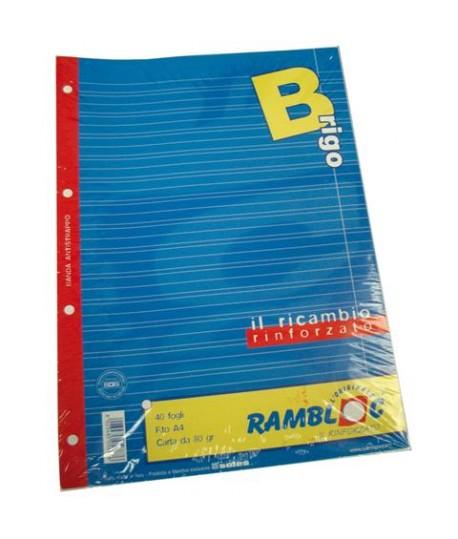 RICAMBIO RAMBLOC RINFORZATO A4 80GR B