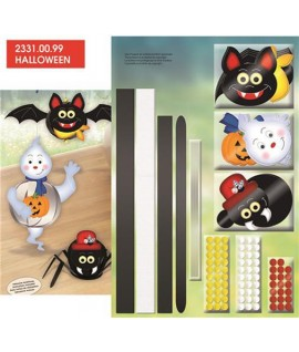 SET FUNNY BALL PAPER SPOOKY CRITTERS 6P