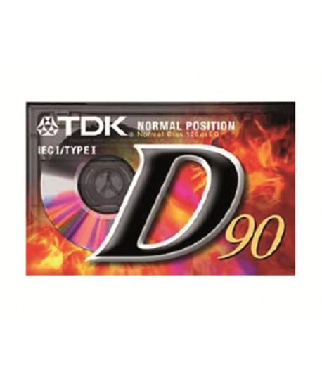 CASSETTA TDK D-90 AUDIO NORMAL 90 MIN