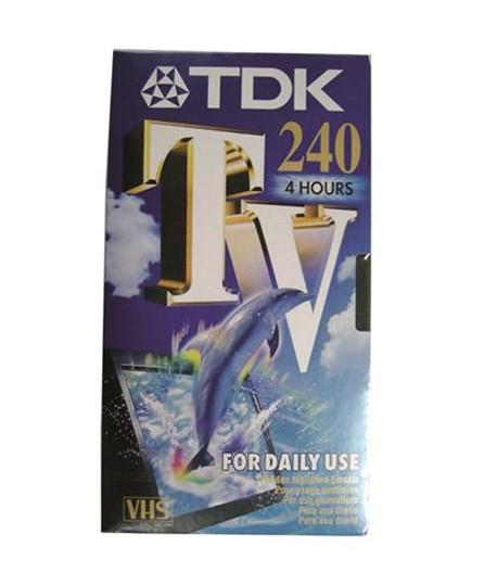 CASSETTA TDK E-240TV VIDEO VHS 240 MIN