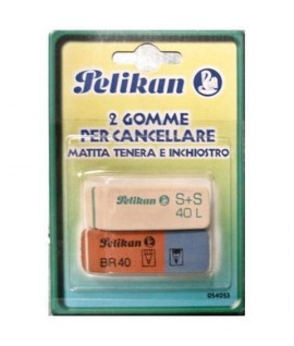 GOMMA PELIKAN S+S/BR PER MATITA/INK BL2