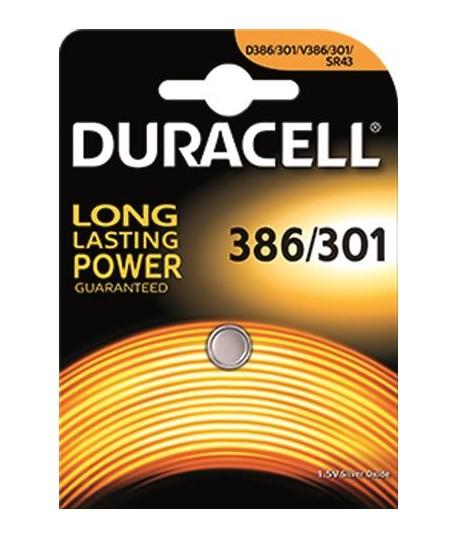 PILA DURACELL D386/301 1,5V LR43