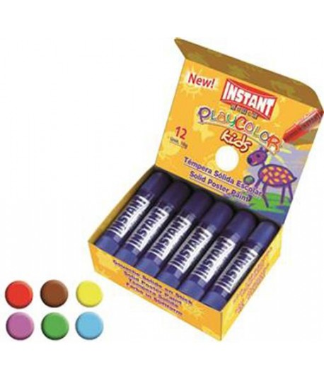 TEMPERA SOLIDA PLAYCOLOR GIALLO 12PZ