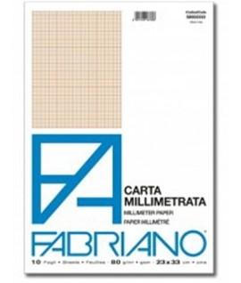 CARTA MILLIMETRATA FABRIANO A4 10 FF