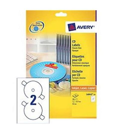 ETICHETTE AVERY CD L6043 25FF IN A4