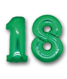 "NUMERO ""18""GONFIABILE VERDE H.1 MT MN18V"