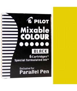 CARTUCCE PILOT PARALLEL PEN GIALLO 6PZ