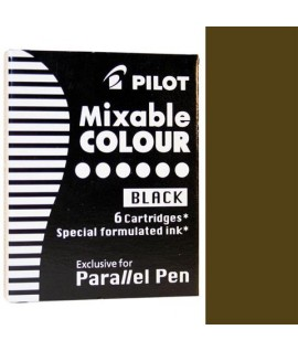 CARTUCCE PILOT PARALLEL PEN MARRONE 6PZ