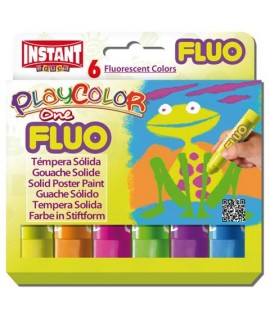 TEMPERA SOLIDA PLAYCOLOR FLUO ONE 6C