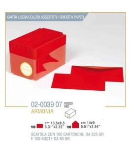 BIGLIETTO ARMONIA F.TO9 100/100 ROSSO