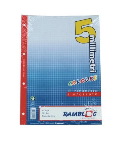 RICAMBIO RINFORZATO A4 80G 5M AZZUR 40FF
