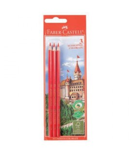 PASTELLI FABER-CASTELL ECO ROSSO 3PZ