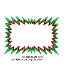 SEGNAPREZZO 3209 SLPASH BIANCO 50PZ