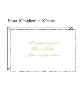 BIGLIETTI BN 9X14 BIANCHI 1007 10PZ S/C