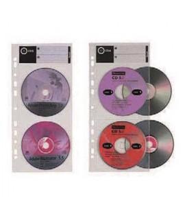 BUSTA CD/DVD CON FORI 4P FAVORIT 10PZ