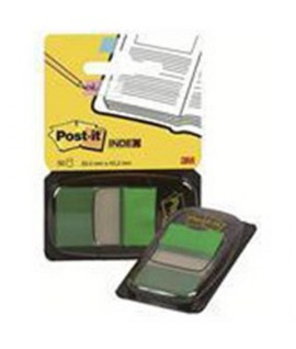 POST-IT INDEX 3M 680-3 VERDE CF.50PZ