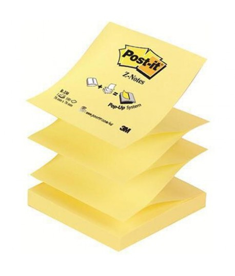 POST-IT 3M 330 Z-NOTE MM76X76 12X 100FF