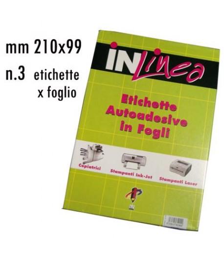 ETICHETTE INLINEA BIANCO MM210X99 100FF